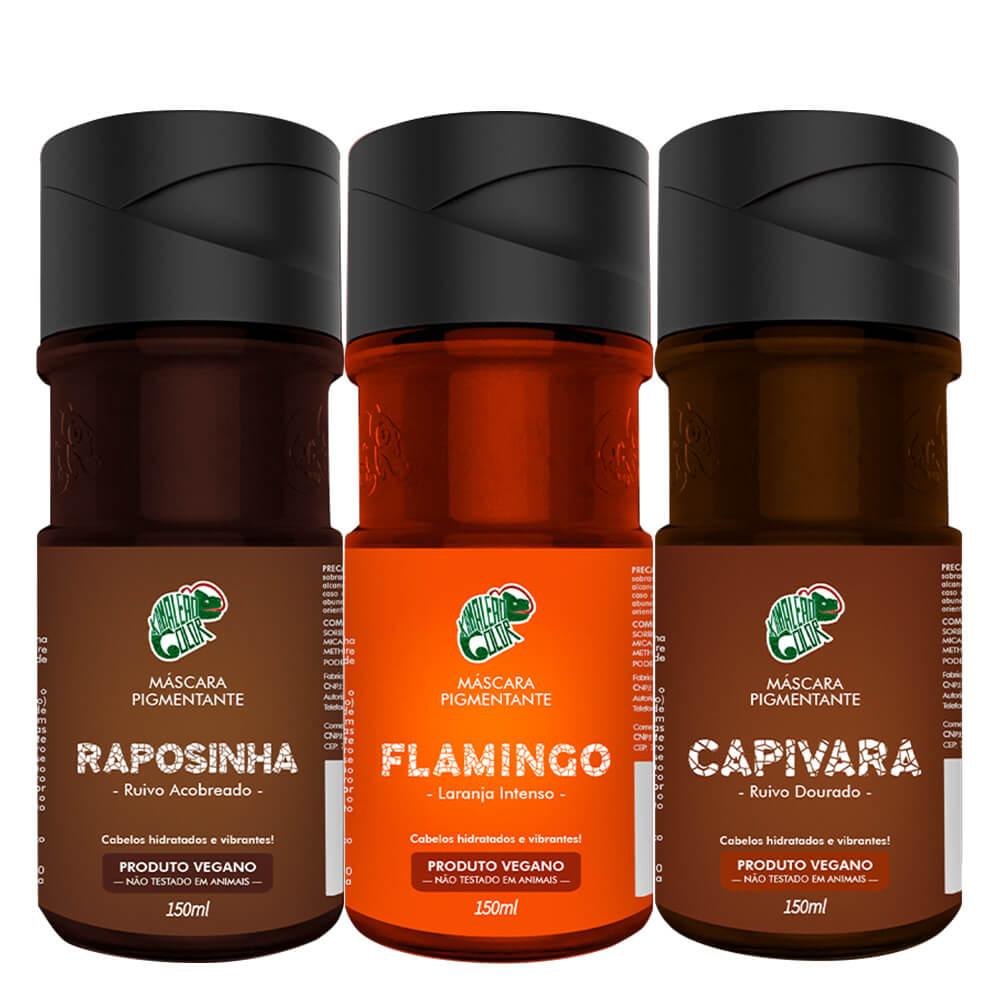 Kit Kamaleão Color - Raposinha, Flamingo e Capivara