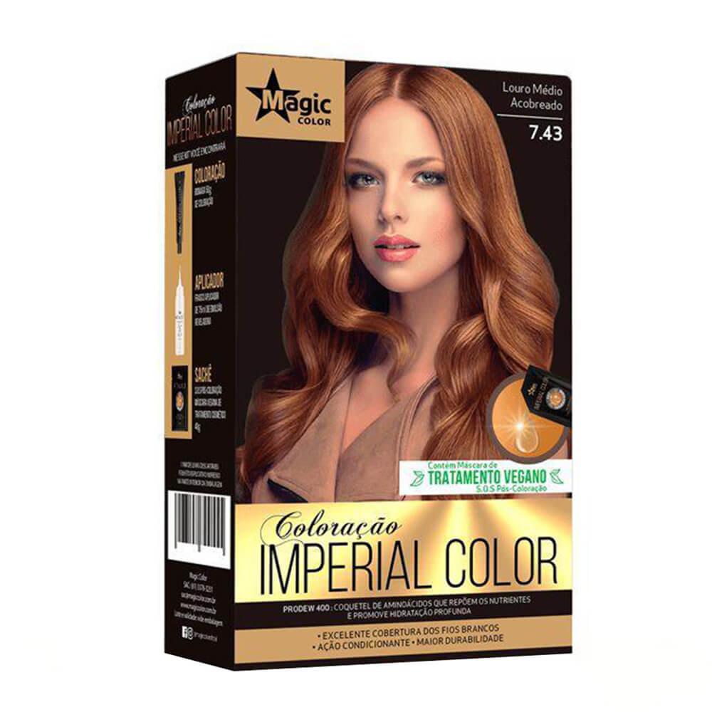 Kit Magic Color Imperial Color 7.43 - Louro Médio Acobreado