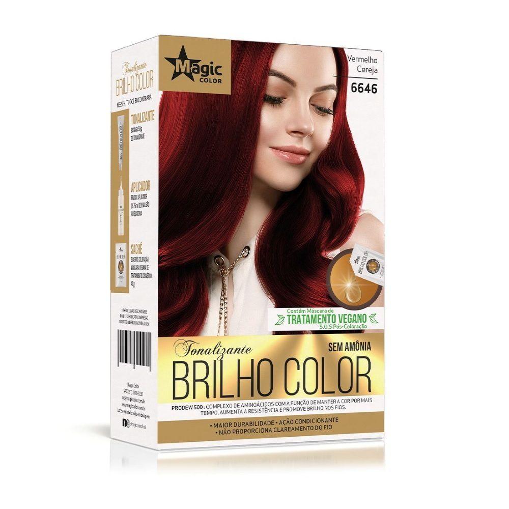 Kit Magic Color Tonalizante Brilho Color 66.46 - Vermelho Cereja