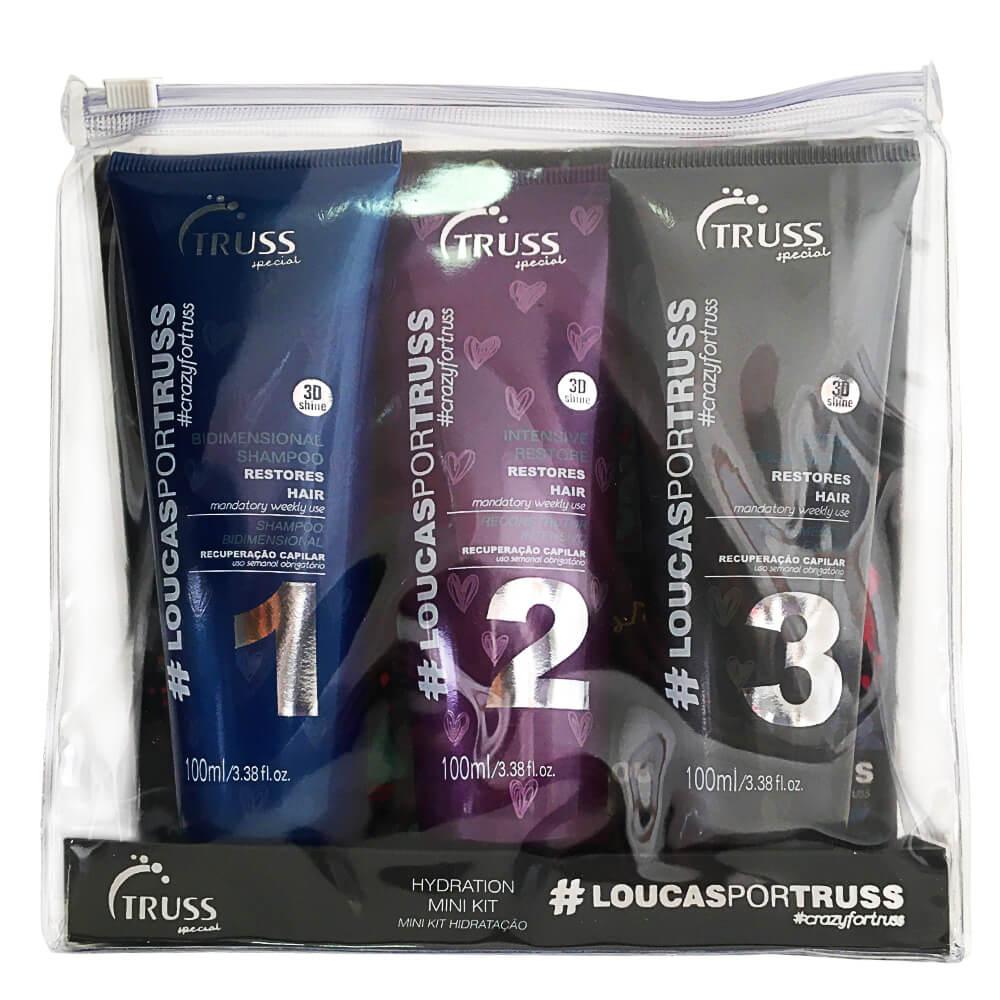 Kit Truss Mini Loucas por Truss - Shampoo, Restaurador e Tratamento