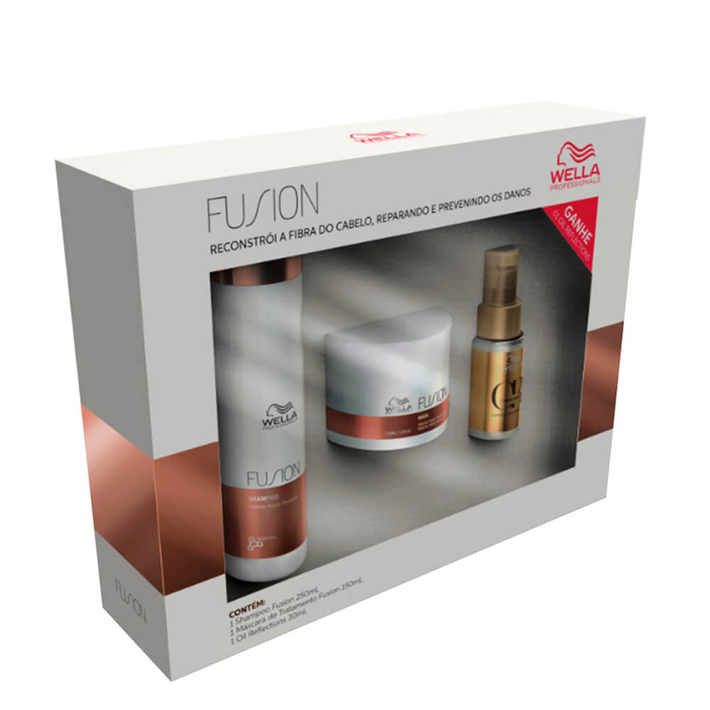 Kit Wella BP Fusion - Shampoo e Máscara GRÁTIS ÓLEO OIL REFLECTIONS