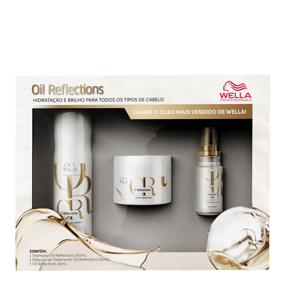 Kit Wella BP Oil Reflections - Shampoo e Máscara GRÁTIS ÓLEO OIL REFLECTIONS LIGHT