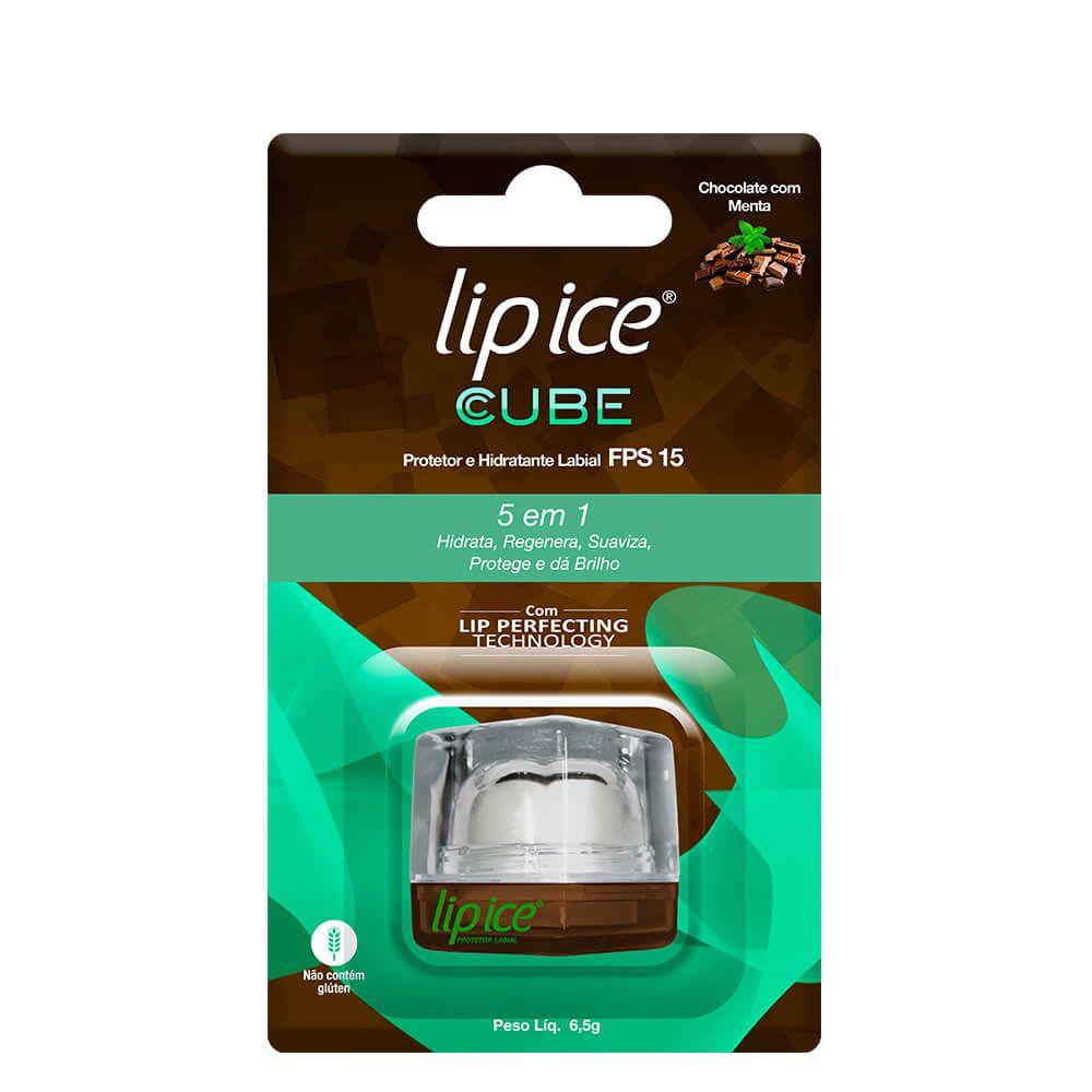 Lip Ice Protetor e Hidratante Labial Cube FPS 15 - Chocolate