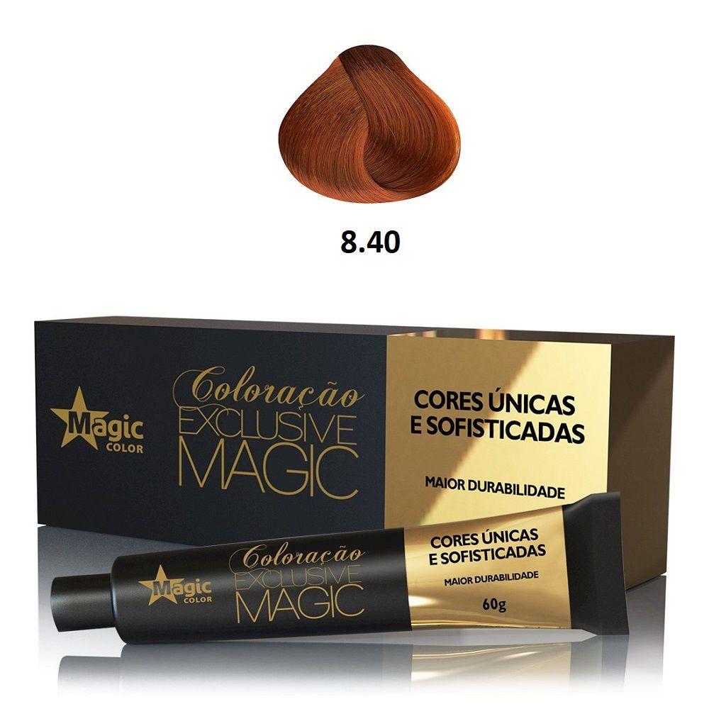 Magic Color Coloração Exclusive Magic 8.40 Louro Claro Cobre Intenso - 60g