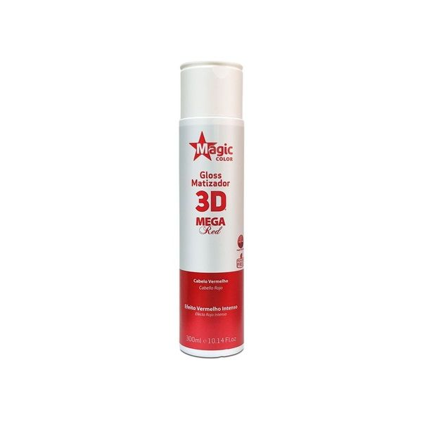 Magic Color Tonalizante Gloss Matizador 3D Mega Red - 300ml