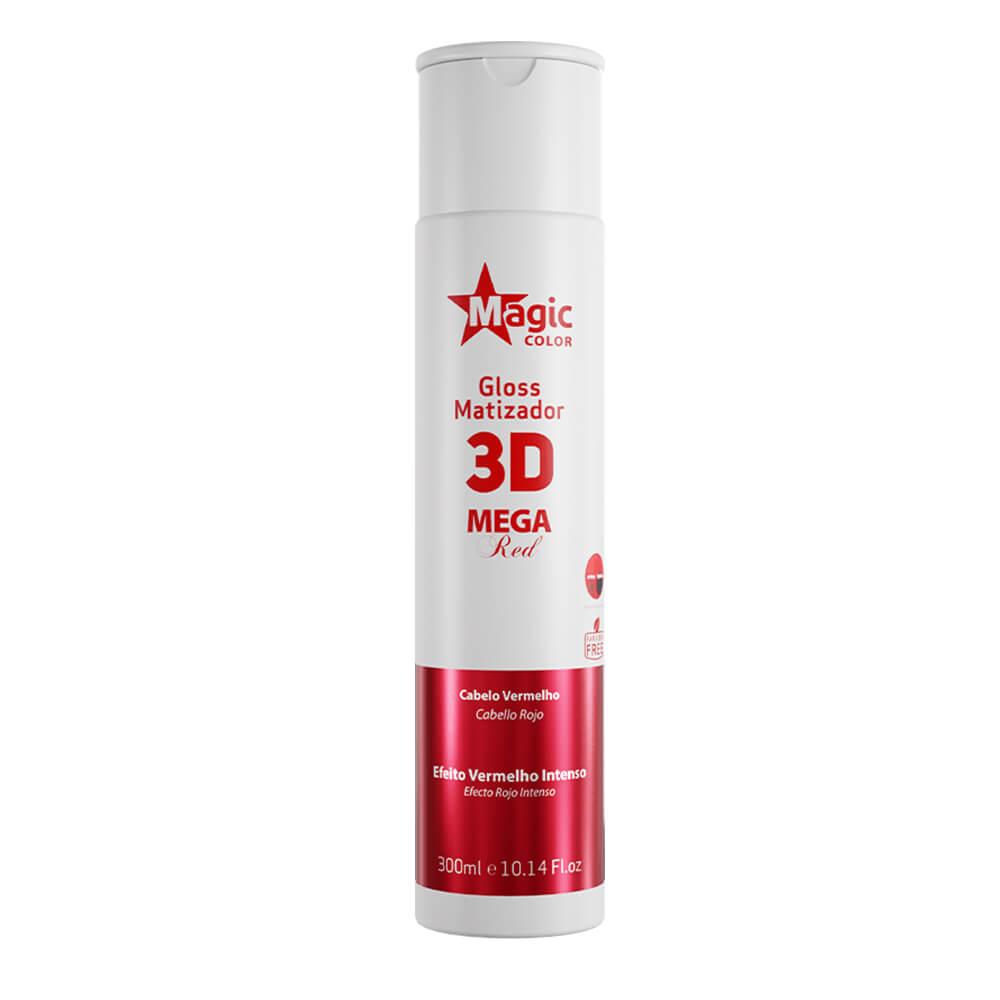 Magic Color Tonalizante Gloss Matizador 3D Mega Red - 300ml