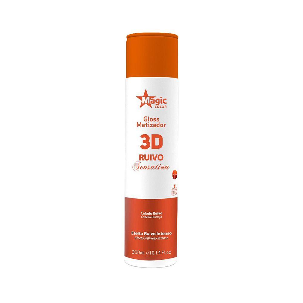 Magic Color Tonalizante Gloss Matizador 3D Ruivo Sensation - 300ml