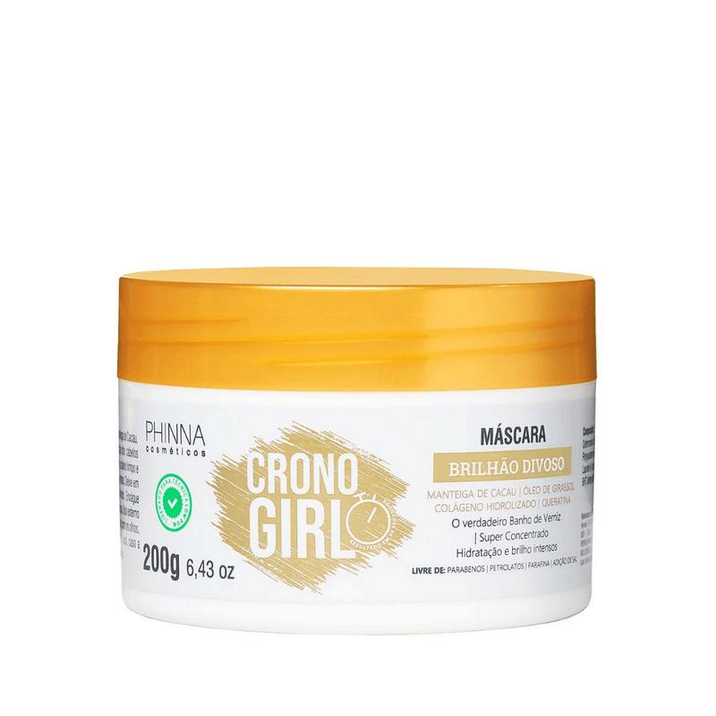 Phinna Máscara Crono Girl Brilho Divoso Banho de Verniz - 200g