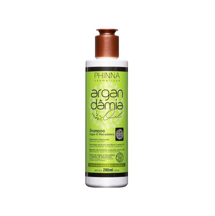 Phinna Shampoo Argan Dâmia Oil - 200ml