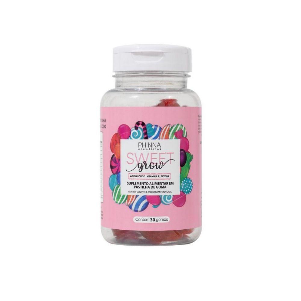 Phinna Sweet Grow Vitaminas para Cabelos e Unhas - 30 Dias (Venc 08/21)