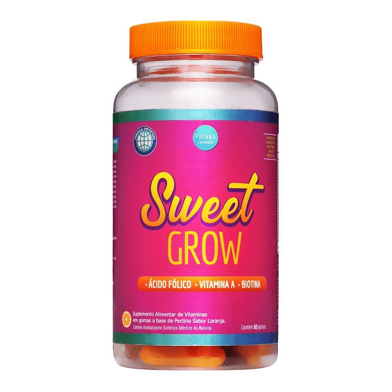 Phinna Sweet Grow Vitaminas para Cabelos e Unhas - 60 Dias