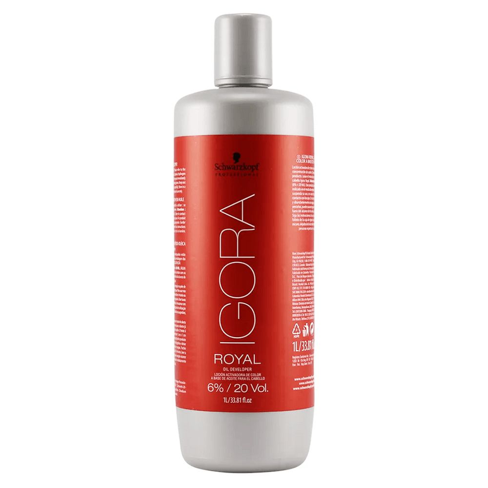 Schwarzkopf Água Oxigenada Igora Royal 20Vol / 6% - 1000ml