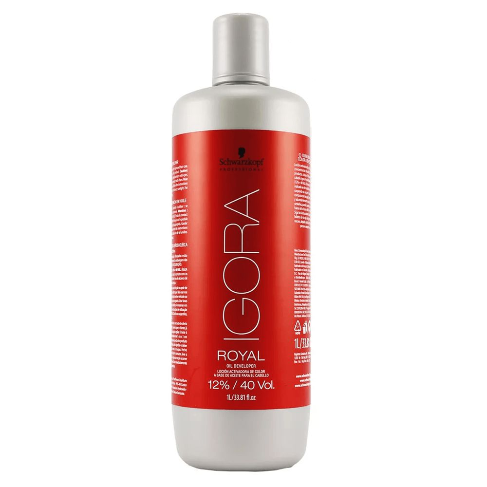 Schwarzkopf Água Oxigenada Igora Royal 40Vol / 12% - 1000ml
