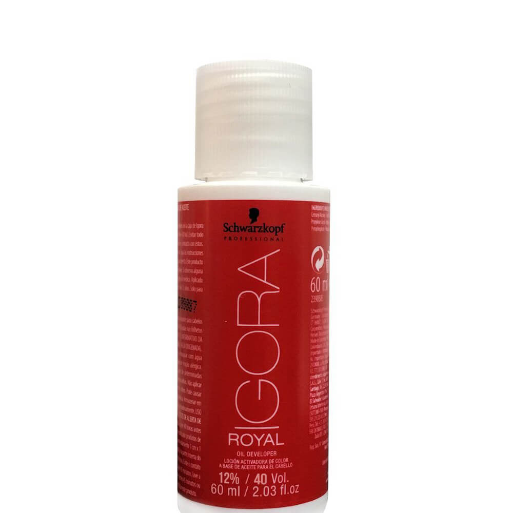 Schwarzkopf Água Oxigenada Igora Royal 40Vol / 12% - 60ml