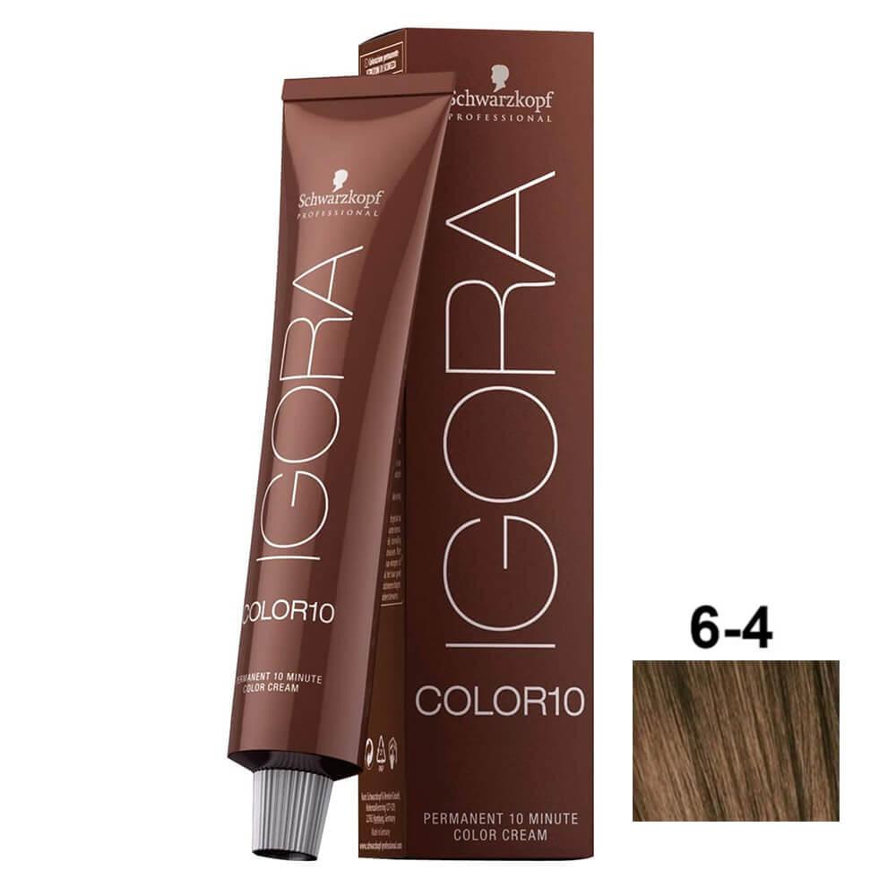 Schwarzkopf Igora Color10 6-4 Louro Escuro Bege - 60ml