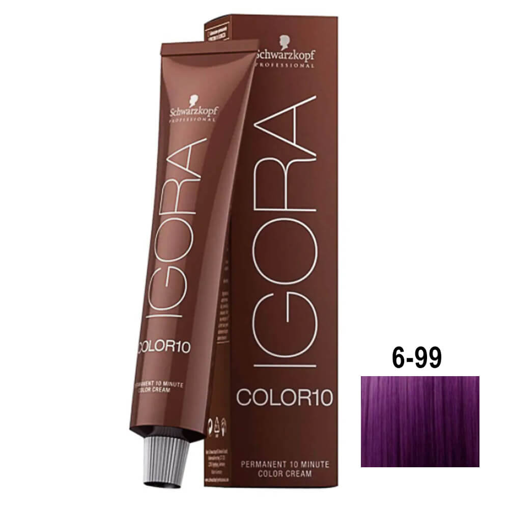 Schwarzkopf Igora Color10 6-99 Louro Escuro Violet Extra - 60ml