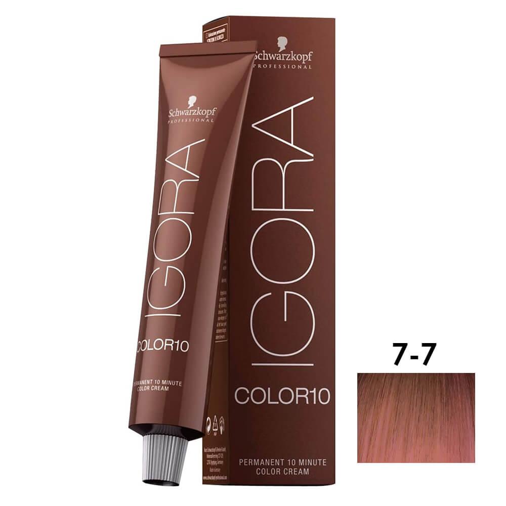 Schwarzkopf Igora Color10 7-7 Louro Medio Cobre - 60ml