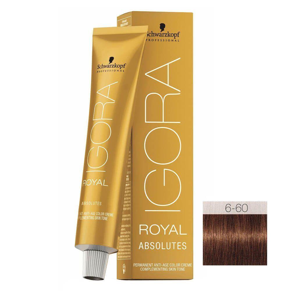 Schwarzkopf Igora Royal Absolutes 6-60 Louro Escuro Brown Natural - 60g