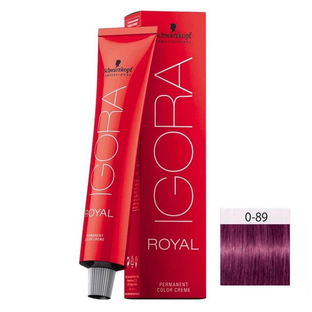 Schwarzkopf Igora Royal HD 0-89 Tom Mistura Vermelho Violeta - 60g