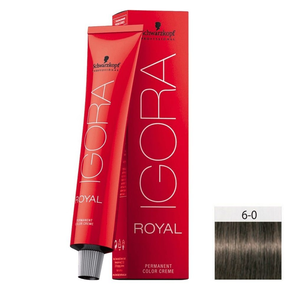 Schwarzkopf Igora Royal HD 6-0 Louro Escuro Natural - 60g