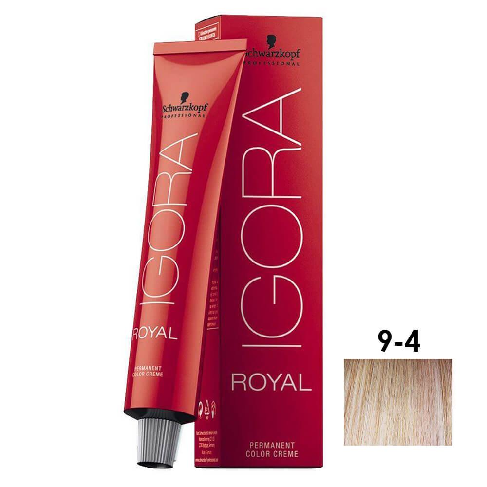 Schwarzkopf Igora Royal HD 9-4 Louro Extra Claro Bege 60g