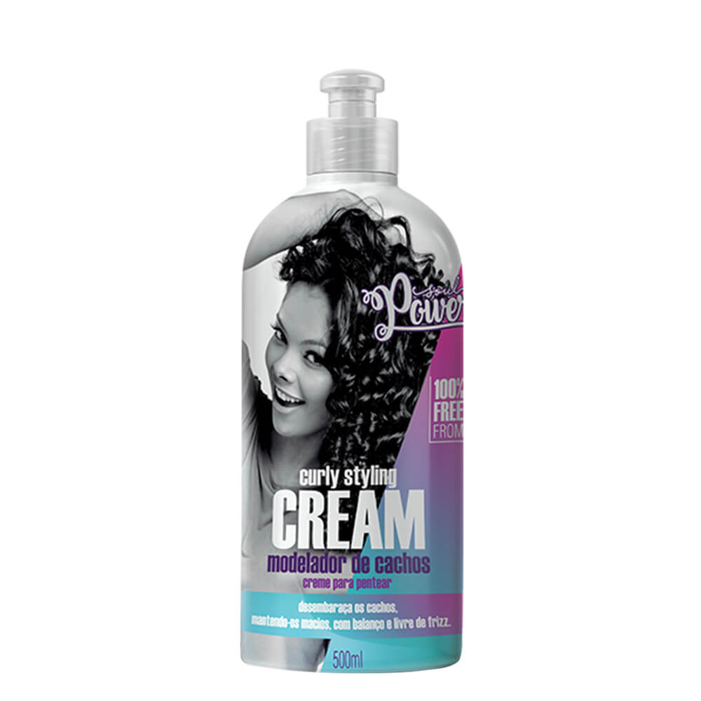 Soul Power Creme Para Pentear Curly Styling Cream - 500ml
