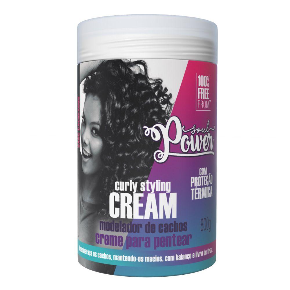 Soul Power Creme Para Pentear Curly Styling Cream - 800g