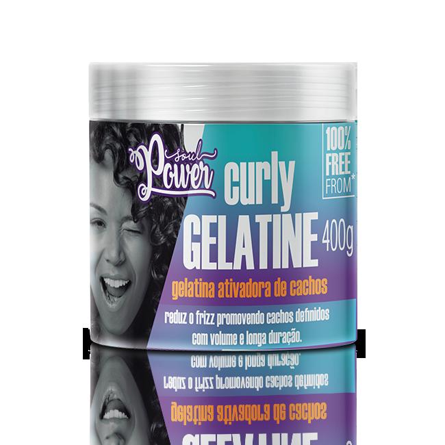 Soul Power Gelatina Curly Gelatine Ativadora De Cachos - 400g