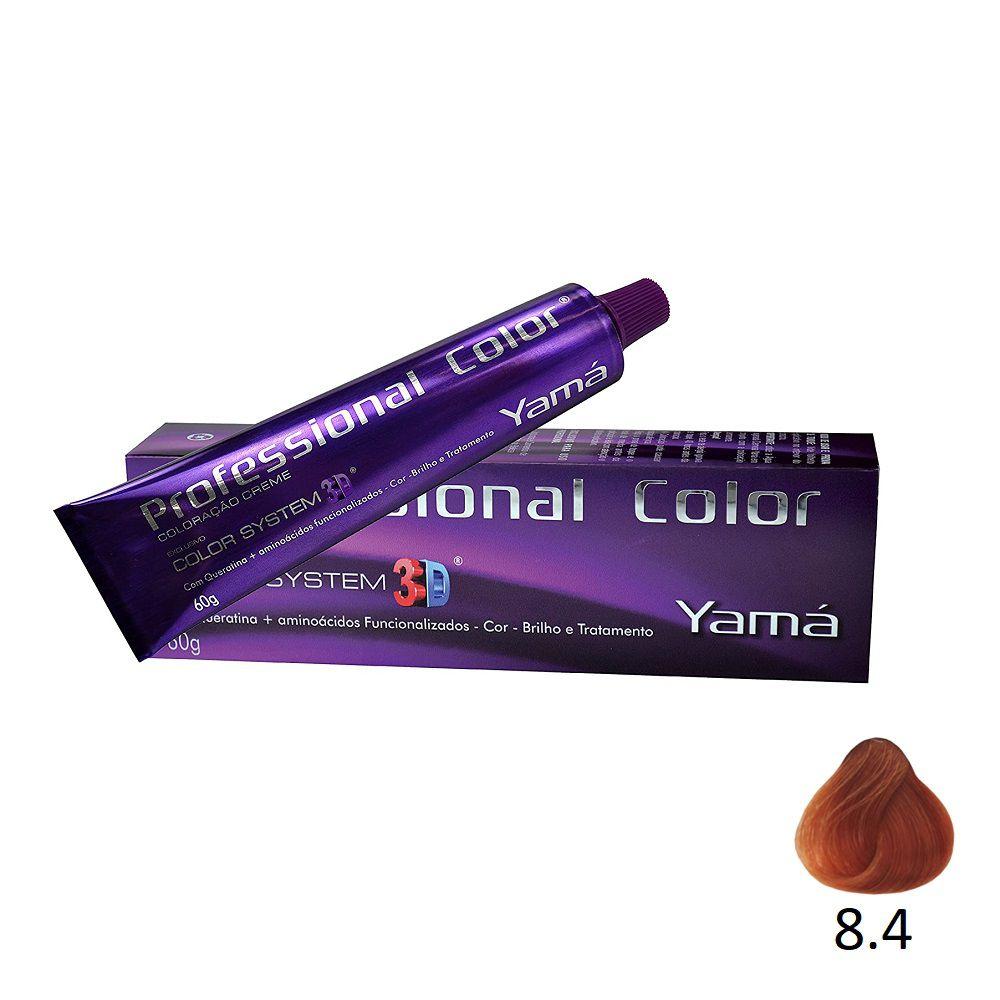 Yamá Professional Color 3D 8.4 Louro Claro Acobreado - 60g