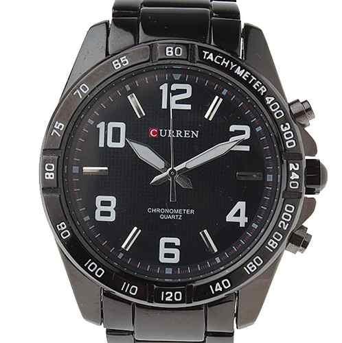 Relógio Masculino Curren Analógico Casual Preto 8107
