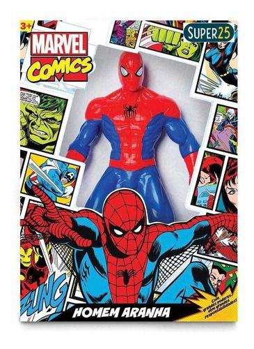 Boneco Homem Aranha Comics 45 Cm. Vermelho Mimo 0550