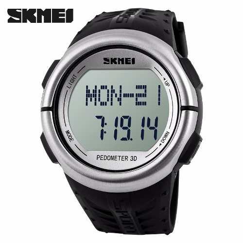 Relógio Unissex Skmei Digital Pedômetro Esporte Preto Dg1058