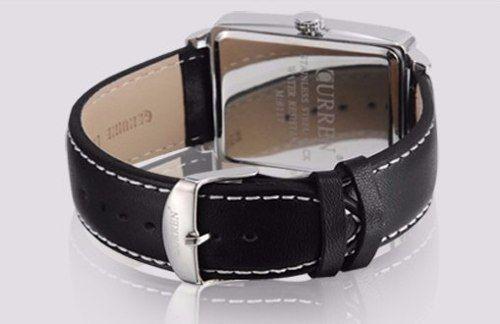 Relógio Couro Curren Analógico 8117 Preto Aço Inoxidável