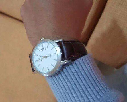 Relógio Masculino Luxo Casual Couro Calendário Yazole 296