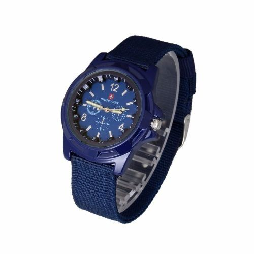 Relógio Unisex Swiss Army Militar Suiço Esportivo Azul