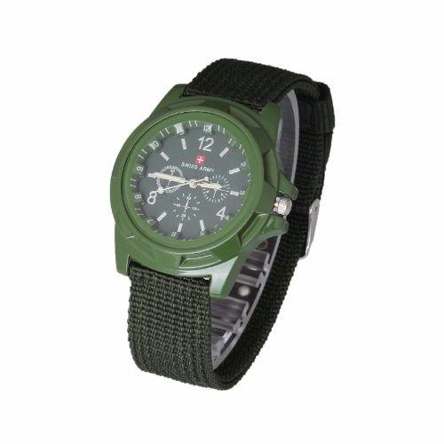 Relógio Unisex Swiss Army Militar Suiço Esportivo Verde