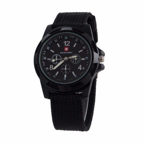 Relógio Unisex Swiss Army Militar Suiço Esportivo Preto