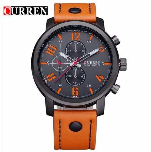 Relógio Curren Original 8192 Preto Novo Barato