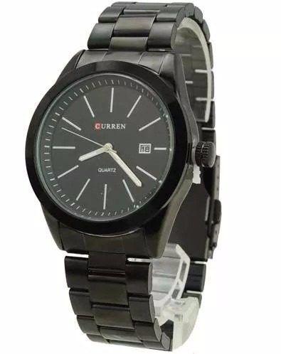 Relógio Curren 8091 Masculino Luxo Com Calendário