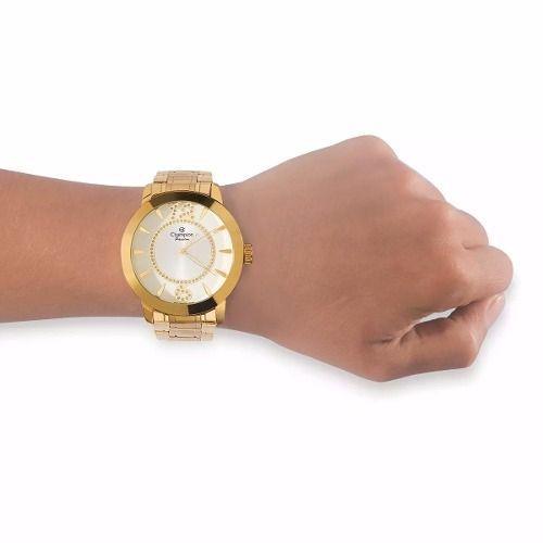 Relógio Champion Feminino Passion Dourado Ch24259h