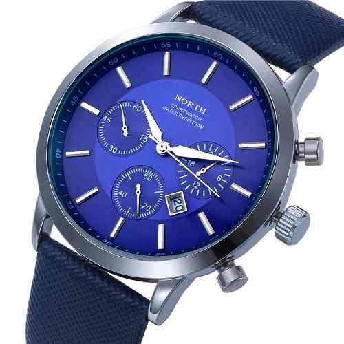 Relógio Masculino North Original Calendário