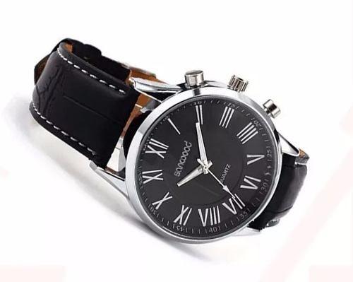 Relógio Masculino Geneva Sanwood Preto Pronta Entrega