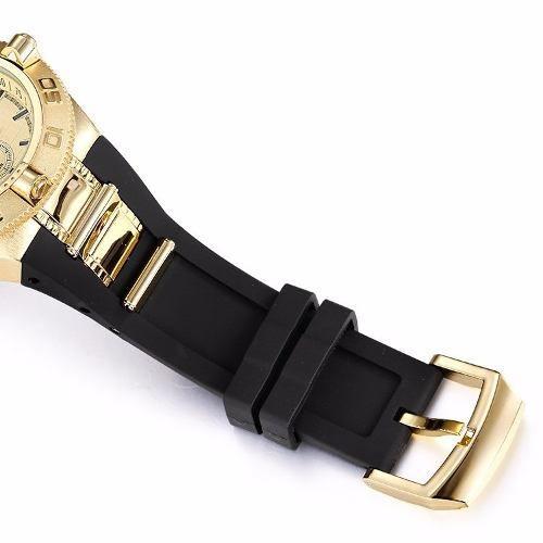 Relógio Masculino Shhors Dourado Aço Original