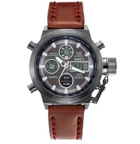 Relógio Masculino Amst 3003 Militar Esportivo