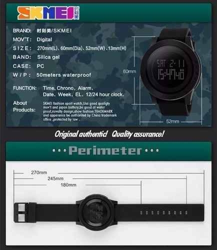 Relógio Masculino Skmei Sshock Original Mod 1142 Provad'água