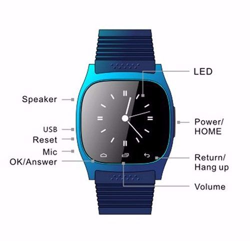 Relógio Bluetooth Smartwatch M26 Android Ios Samsung Sony