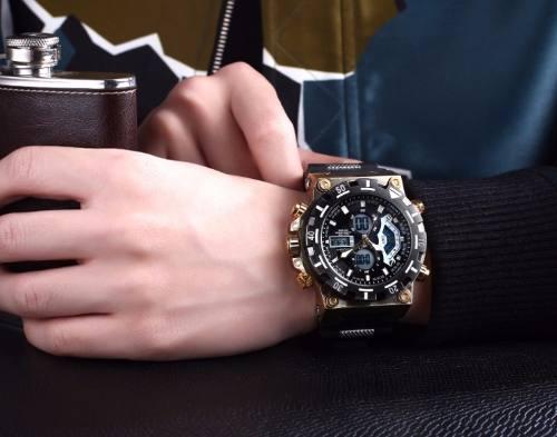 Relógio Masculino Original Amuda Am5004 Grande