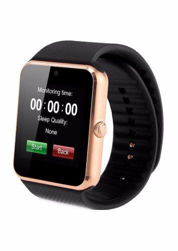 Relógio Bluetooth Smartwatch Gear Chip Gt08 Dourado Rosê