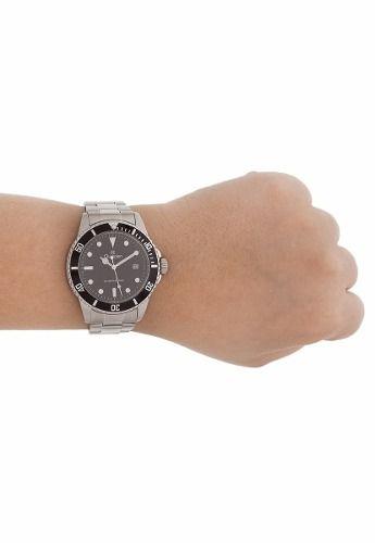 Relógio Masculino Original Champion Ca31266t Preto E Prata