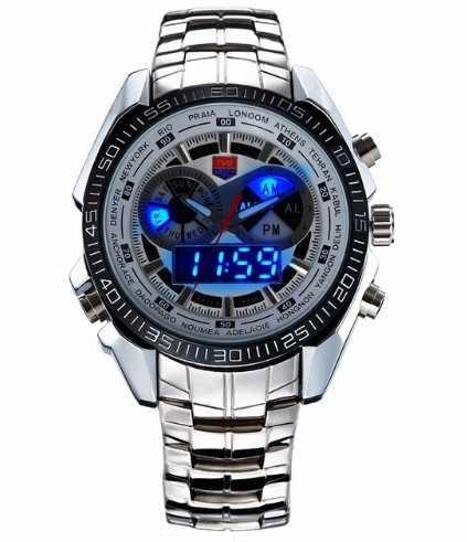 Relógio Led Tvg Display Analóg-digital pronta Entrega